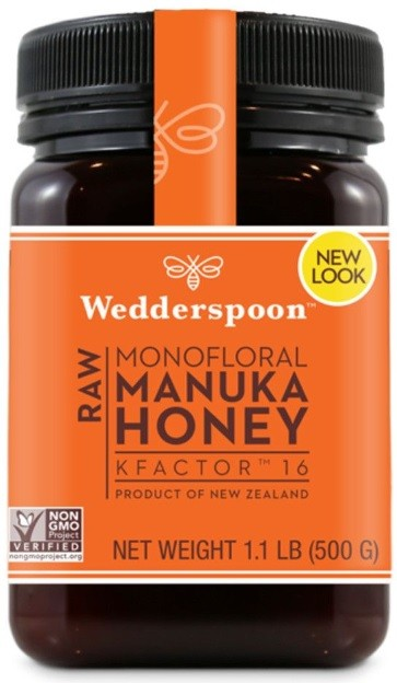Miere de Manuka - RAW - KFactor 16 - Wedderspoon - 500 g