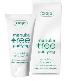 Crema de Zi Normalizatoare cu Extract din Frunze de Manuka SPF10 Ziaja - 50 ml