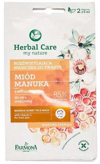 Herbal Care Farmona - Masca Iluminatoare cu Miere de Manuka si Vitamina C - 2x5 ml