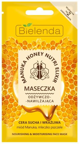 Manuka Honey Nutri Elixir - Masca de Fata Hranitoare si Hidratanta Pentru Ten Uscat si Sensibil - Bielenda - 8 g