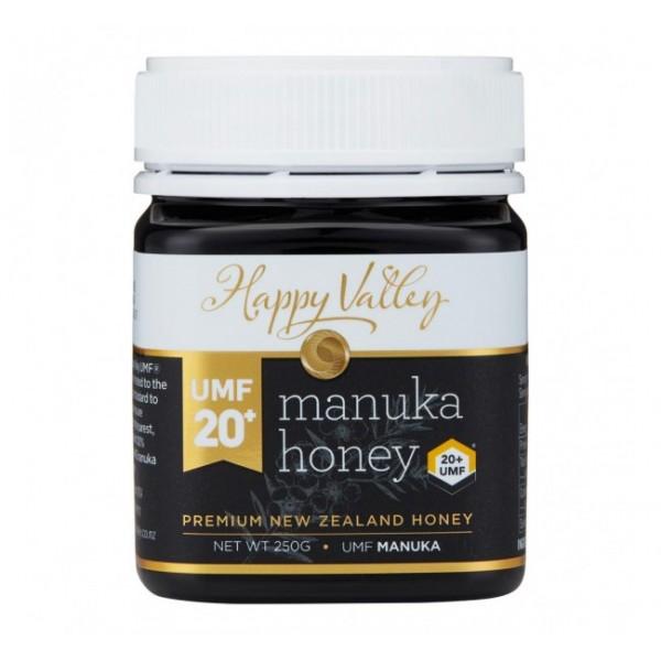 Miere de Manuka Premium UMF 20+ (echivalent MGO 800+) - Happy Valley - 250 g